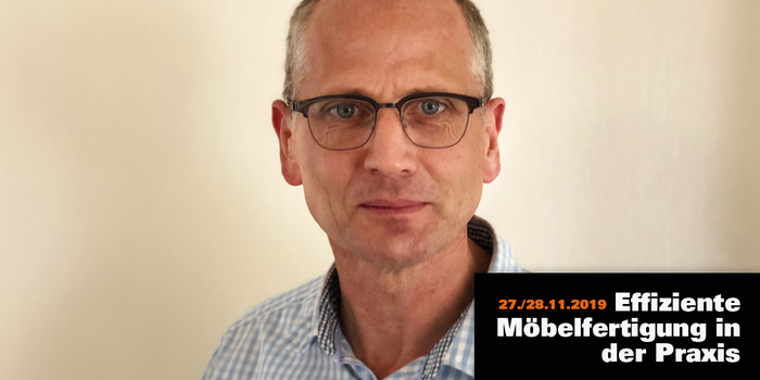 "Jürgen Gieske, plant manager and authorized signatory at Beckermann Küchen, is one of the speakers of the third congress ""Efficient furniture production in practice"" of ""möbelfertigung"""
