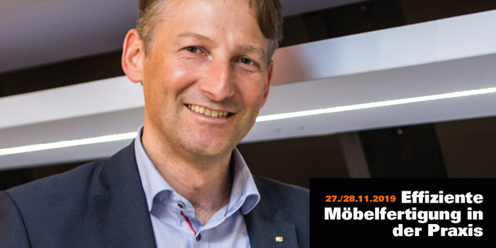 "Hubert Höglauer, Head of Marketing and Product Management for Furniture and Interior Design Egger Group, is one of the speakers of the third conference ""Efficient furniture production in practice"" of ""möbelfertigung"""