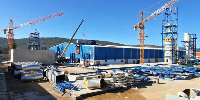 Construction progress at BIGSTAR/Panneaux d'Algérie in El Tarf, Algeria. Photo: Dieffenbacher