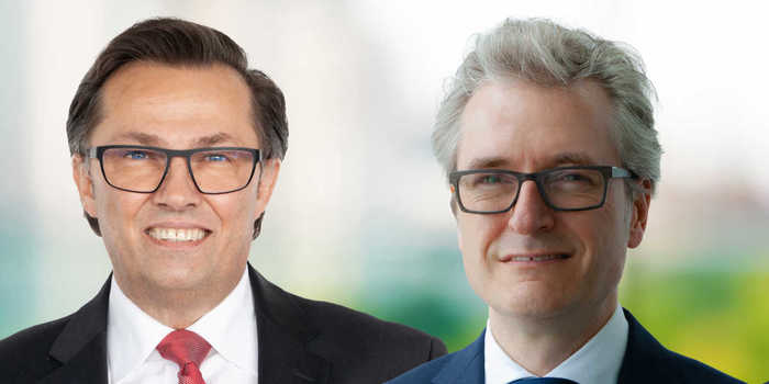 From the left: Olaf Rohrbeck, CSO/CTO Spokesman of the Management Board of Robert Bürkle GmbH and new member Olaf Hartwig, who takes over all functions of the COO with immediate effect.