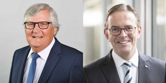 Gerhard Federer (left) was elected as the new chairman of the supervisory board of Homag Group AG from January 1, 2021 on December 15, 2020. He replaces Ralf W. Dieter (right), who will take over from Pekka Paasivaara as chairman of the management board of Homag Group AG on January 1, 2021.