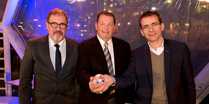 Im Bild, von links: Diego Goldin, Executive Director NGV Global; Mike Gallagher, Chairman NGV Global und Pierre Lahutte, Iveco Brand President