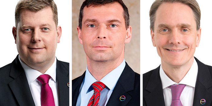 Von links: Michael Friede, Dr. Markus Steilemann und Daniel Meyer